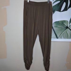 Express Olive Green Harem Pants Crop Career Wear